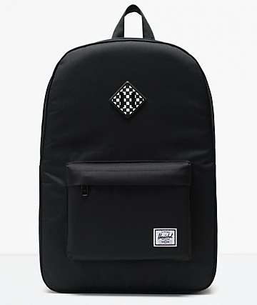 4bcedaeb09 Herschel Heritage Black Checkerboard Backpack