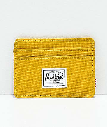 Herschel Supply Co. Charlie Arrowhead Yellow Cardholder Wallet