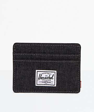 Herschel Supply Co. Charlie Black Crosshatch Cardholder Wallet