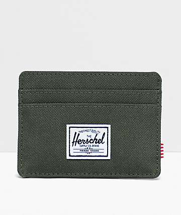 Herschel Supply Co. Charlie Dark Olive Cardholder Wallet