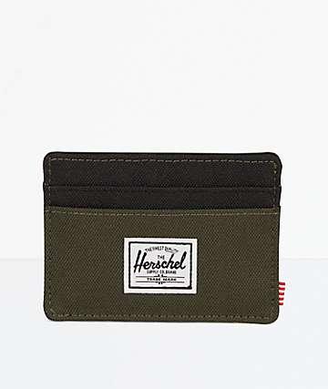 Herschel Supply Co. Charlie Forest & Black Cardholder Wallet
