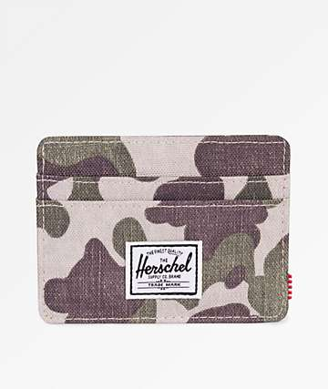 Herschel Supply Co. Charlie Frog Camo Cardholder Wallet