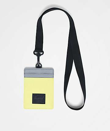 Herschel Supply Co. Charlie Highlight & Silver Reflective Lanyard Wallet