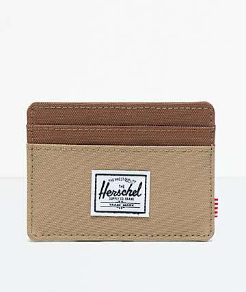 Herschel Supply Co. Charlie Kelp & Saddle Brown Cardholder Wallet