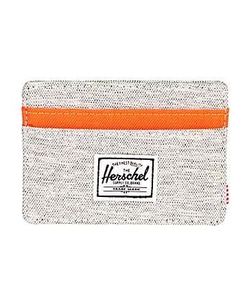 Herschel Supply Co. Charlie Light Grey & Orange Cardholder Wallet