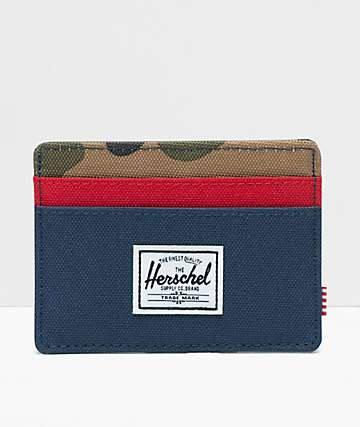 Herschel Supply Co. Charlie Navy, Red & Camo Cardholder Wallet