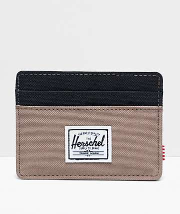 Herschel Supply Co. Charlie Pine Bark & Black Cardholder Wallet