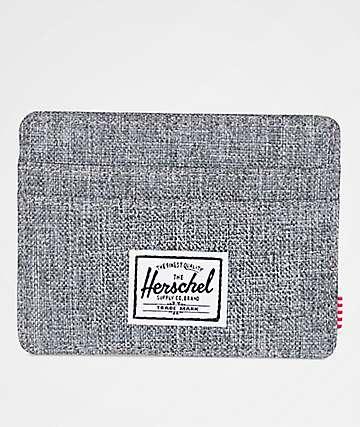 Herschel Supply Co. Charlie Raven Crosshatch Cardholder Wallet