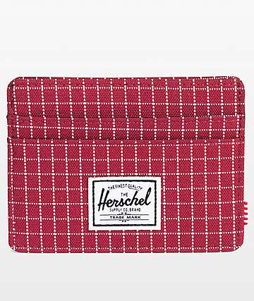 Herschel Supply Co. Charlie Windsor Wine Grid cartera
