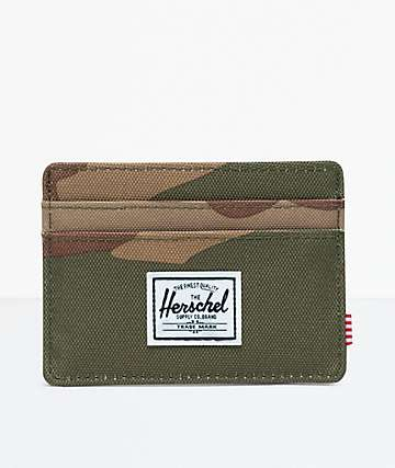 Herschel Supply Co. Charlie Woodland Camo Cardholder Wallet