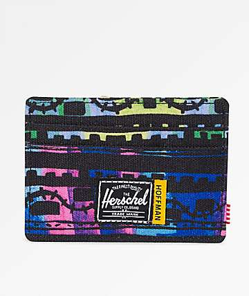 Herschel Supply Co. Charlie Zig Zag Blue & Green Cardholder Wallet