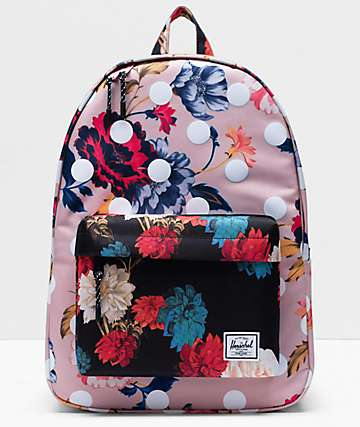 Herschel Supply Co. Classic Kaleidoscope Colorblock Winter Floral Backpack