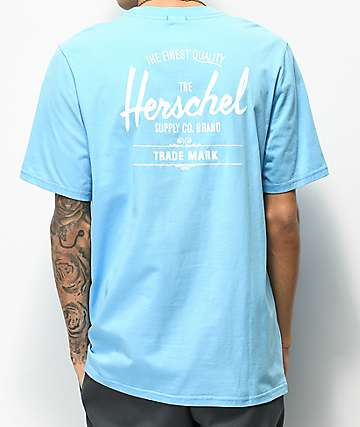 Herschel Supply Co. Classic Logo Light Blue T-Shirt