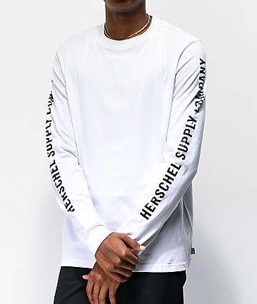 Herschel Supply Co. Classic Logo White Long Sleeve T-Shirt