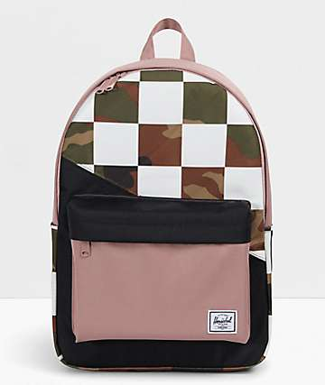 Herschel Supply Co. Classic XL Kaleidoscope mochila de camuflaje a cuadros