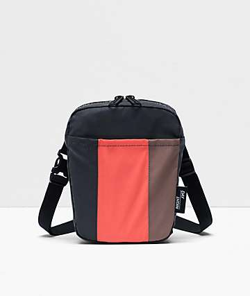 Herschel Supply Co. Cruz Hot Coral, Brown & Black Shoulder Bag