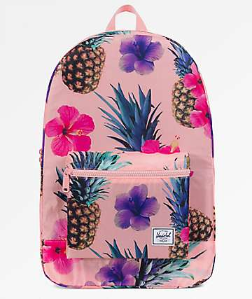 Herschel Supply Co. Daypack Peach Pineapple Packable Backpack