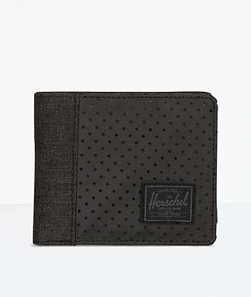 Herschel Supply Co. Edward Black & Black Crosshatch Bifold Wallet