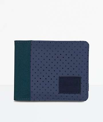 Herschel Supply Co. Edward Teal & Peacoat Bifold Wallet