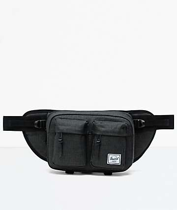 Herschel Supply Co. Eighteen Black Crosshatch Fanny Pack
