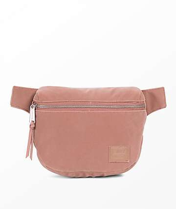 Herschel Supply Co. Fifteen Ash Rose Velvet Fanny Pack