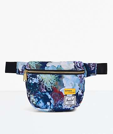 Herschel Supply Co. Fifteen Hoffman Floral Blue Fanny Pack
