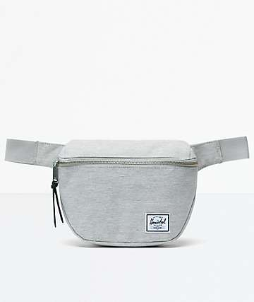 Herschel Supply Co. Fifteen Light Grey Crosshatch Fanny Pack