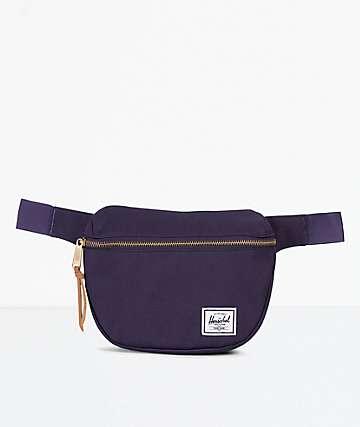 Herschel Supply Co. Fifteen Purple Velvet Fanny Pack