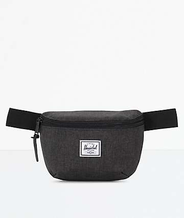 Herschel Supply Co. Fourteen Black Crosshatch Fanny Pack