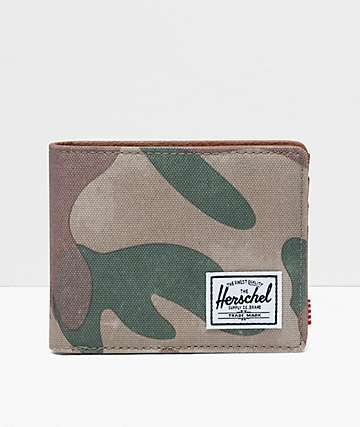 Herschel Supply Co. Hank Brushstroke Camo Bifold Wallet
