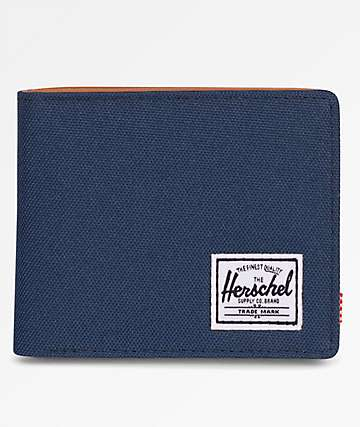 Herschel Supply Co. Hank Navy & Tan Bifold Wallet