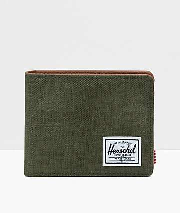 Herschel Supply Co. Hank Olive Crosshatch Bifold Wallet