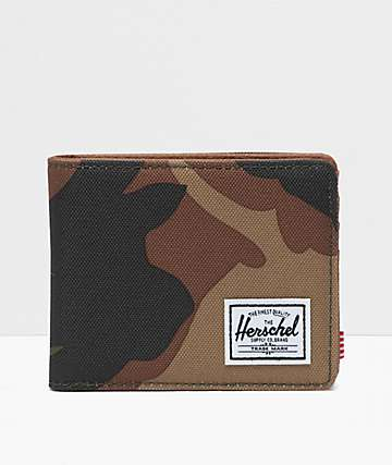 Herschel Supply Co. Hank Woodland Camo Bifold Wallet
