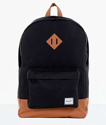 59f62dd7be9 Herschel Supply Co. Heritage Black   Tan Backpack