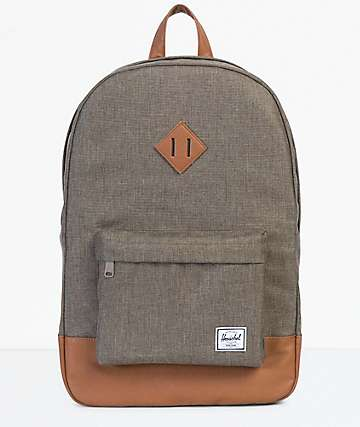 Herschel Supply Co. Heritage Canteen Crosshatch & Tan Backpack