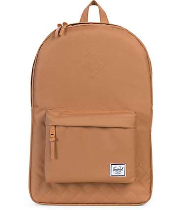 Herschel Supply Co. Heritage Caramel Quilted 21.5L Backpack