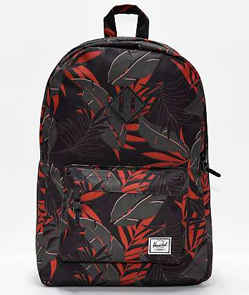 Herschel Supply Co. Heritage Dark Olive Palm Backpack