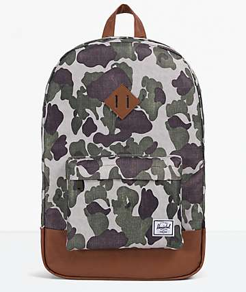 Herschel Supply Co. Heritage Frog Camo & Tan Backpack