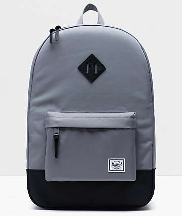 Herschel Supply Co. Heritage Grey & Black Backpack