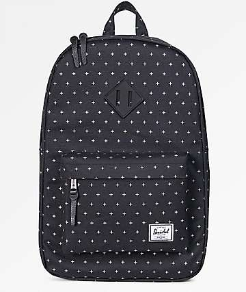 Herschel Supply Co. Heritage Mid Black Gridlock 14.5L Backpack