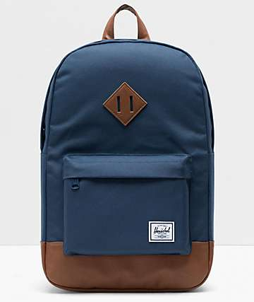Herschel Supply Co. Heritage Navy & Brown Backpack