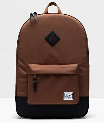 Herschel Supply Co. Heritage Saddle Brown & Black Backpack