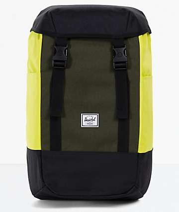 Herschel Supply Co. Iona Black, Forest & Primrose Backpack