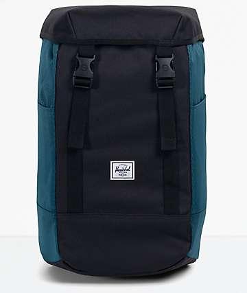 Herschel Supply Co. Iona Black & Dark Teal Backpack