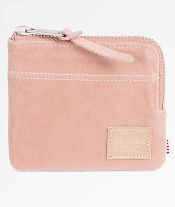 Herschel Supply Co. Johnny Ash Rose Velvet Wallet