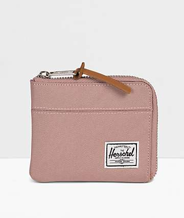 Herschel Supply Co. Johnny Ash Rose Zip Pouch Wallet