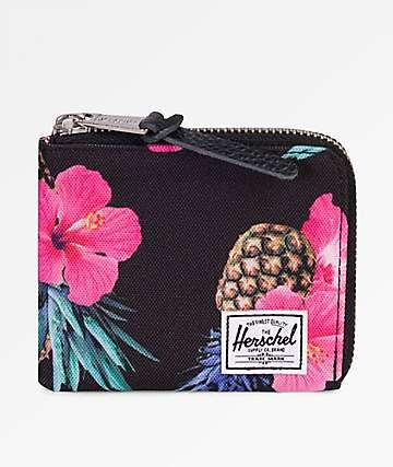 Herschel Supply Co. Johnny Black Pineapple Zip Wallet