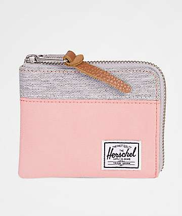 Herschel Supply Co. Johnny Peach & Light Grey Crosshatch Wallet