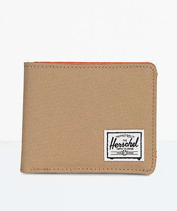 Herschel Supply Co. Kelp & Orange Bifold Wallet