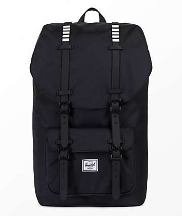 Herschel Supply Co. Little America 25L mochila negra y blanca